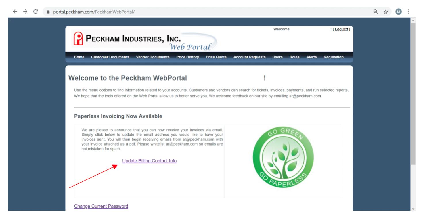 E Billing Peckham Industries Inc