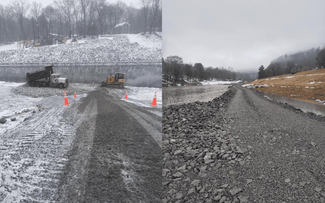 Stone for Emergency Stream Bank Restoration