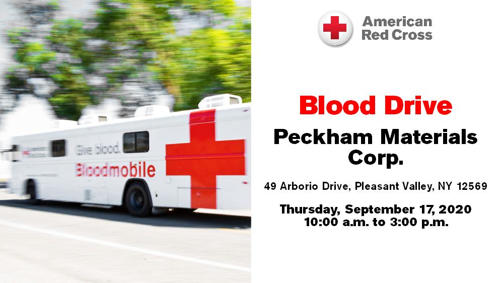 Blood Drive at Peckham Materials, September 17
