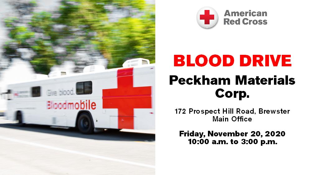 Blood Drive at Peckham Materials, November 20